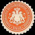 Siegelmarke Hamburgischer Bevollmächtigter zum Bundesrath - Berlin W0214843.jpg
