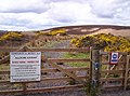 Sign at Entrance to Allochie Lochan - geograph.org.uk - 168638.jpg