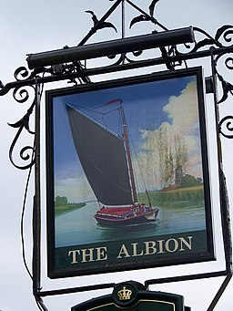 Sign for the Albion, Thetford - geograph.org.uk - 773097