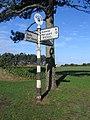 Signpost at Silloth - geograph.org.uk - 125732.jpg