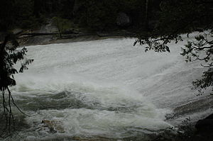 Emerald Pool - Silver Apron at flood stage, May 2006