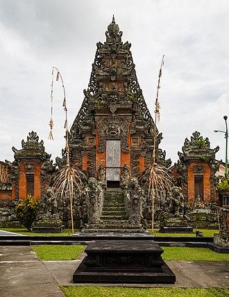 Paduraksa - A highly ornate paduraksa in the Pura Puseh Desa Singapadu, Bali.