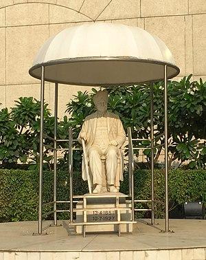 Ganga Ram - Sir Gangaram statue at Sir Gangaram Hospital in Delhi