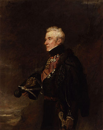 Andrew Barnard - Portrait of Sir Andrew Bernard by William Salter, showing him ready for the 1836 Waterloo banquet