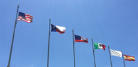 Six historical flags of Texas in a row.png