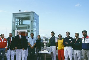 1992 Louis Vuitton Cup - The skippers of the 1992 Louis Vuitton Cup