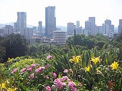 Skyline von Pretoria von den Union Buildings her gesehen