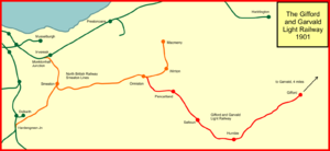 The Smeaton railway branches of the Lothians - The Smeaton lines in 1901 after the opening of the Gifford line