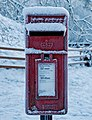 Snow on the post box - geograph.org.uk - 1632348.jpg