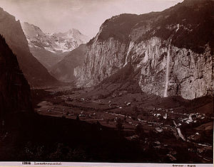 Lauterbrunnen - Lauterbrunnen Valley in the late 19th or early 20th century.