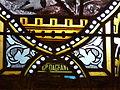 Sourzac église vitrail transept sud signature.JPG