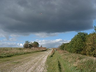 South Downs Way - South Downs Way, looking towards Chanctonbury Ring