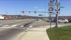 Ohio State Route 26 - Southern terminus of SR 26 in Marietta