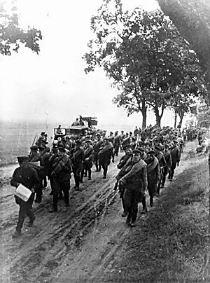 Soviet invasion of Poland - Soviet invasion of Poland, 1939. Advance of the Red Army troops