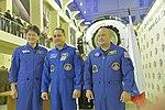 Soyuz MS-07 crew at the Gagarin Cosmonaut Training Center in Star City.jpg