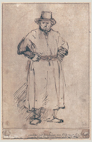 Self-Portrait (Rembrandt, Vienna) - Image: Sp drawing 1652
