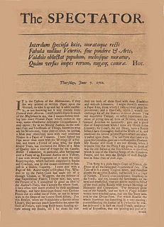 The Spectator (1711) daily publication in England in the 18th /19th-century