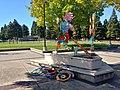 Sports sculpture in Crittenden School Park, June 2019.jpg