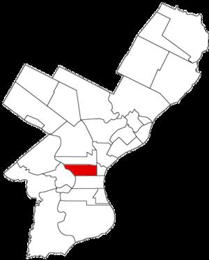 Spring Garden District, Pennsylvania - Image: Spring Garden Dist 1854
