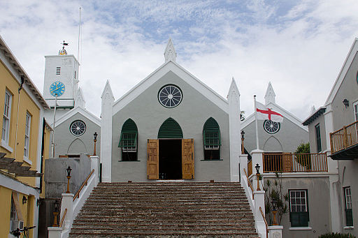 St. Peter's Church, Bermuda, Front