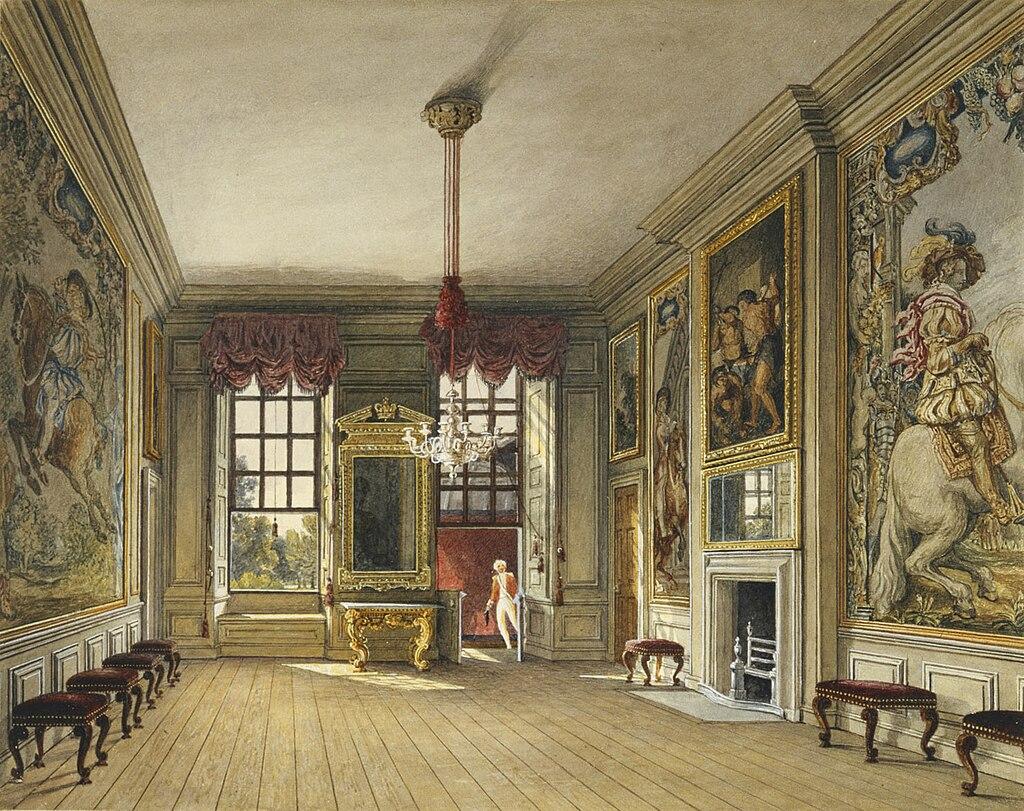 Сент - Джеймсский дворец, Дамба королевы, Чарльз Уайлд, 1816- royal coll 922164 313723 ORI 2.jpg