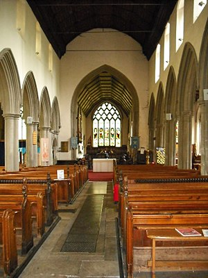 Church of St Peter and St Mary, Stowmarket - The nave