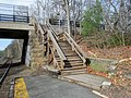 Stairs to Glen Road at Wellesley Farms station, April 2016.JPG