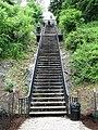 Stairs to High Bridge pathway from Highbridge Park looking up.jpg