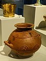Stamnos (Jar) shaped on a potter's wheel that may have held wine Mycenae Grave Circle A Grave IV 1600-1500 BCE NAM Athens.jpg