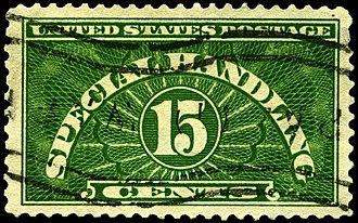 Special handling - Image: Stamp US 1928 15c special handling
