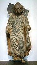 Standing Buddha, Gandhara, 1st century.