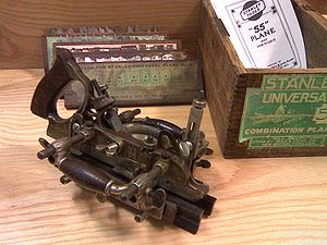 Grooving plane - The Stanley 55 combination plane can act as a plow plane.