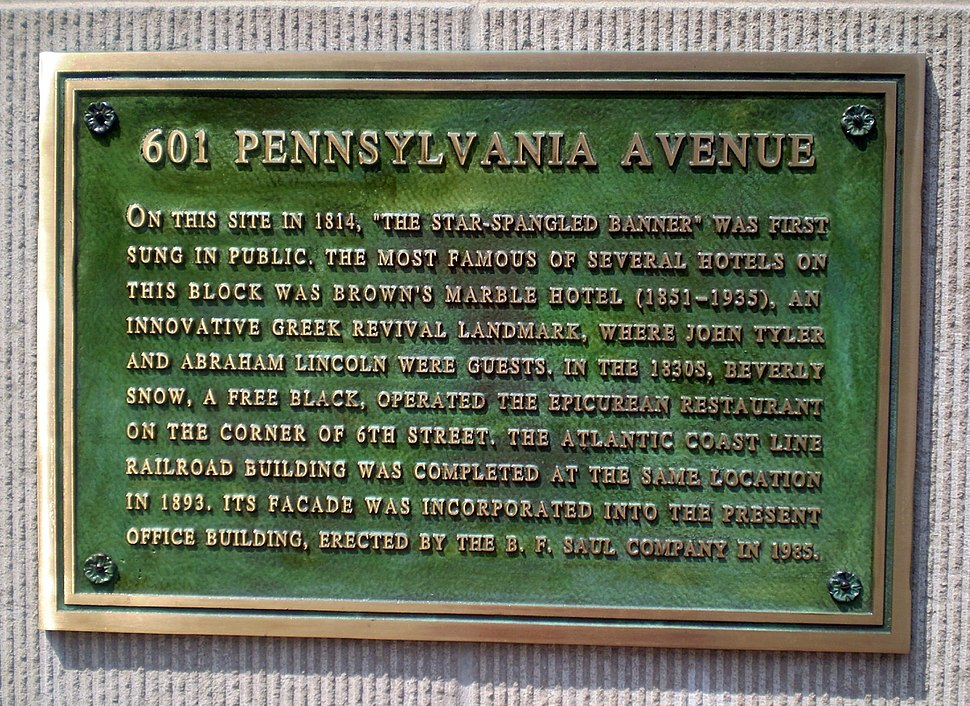Star-Spangled Banner plaque