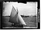 Starboard view of gaff sloop off Garden Island Sydney (6798785638).jpg