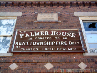 State Line City, Indiana - The Palmer House, originally an Odd Fellows hall