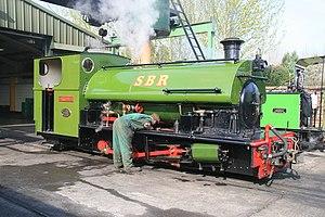 Statfold Barn Railway - oiling round (geograph 3908206).jpg