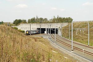 Brussels National Airport railway station - Tunnel to the railway station (south of airport)