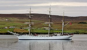 Statsraad Lehmkuhl - Statsraad Lehmkuhl arriving in Lerwick, Shetlands (2016)