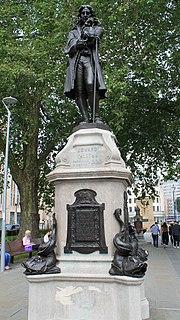 Statue of Edward Colston Commemorative statue in Bristol, England