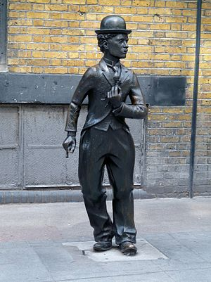 Statue of Charlie Chaplin, London - Image: Statue of Charlie Chaplin, Leicester Place WC2