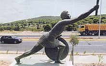 Statue of Pheidippides along the Marathon Road.jpg