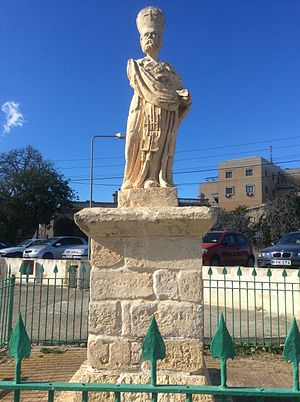 Mtarfa - The Statue of St. Nicholas, which stands on the site of a former Temple of Proserpina