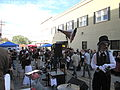 Steampunk Makers Fair Lafayette 2013 VineSt Stage Pinkerton.JPG