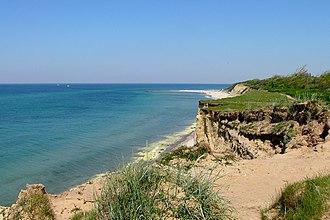 Darßer Weststrand in Vorpommern (Steilküste nahe Ahrenshoop)