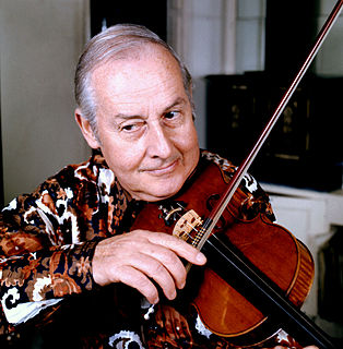 Stéphane Grappelli French jazz violinist