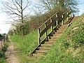 Steps down the embankment - geograph.org.uk - 1244703.jpg