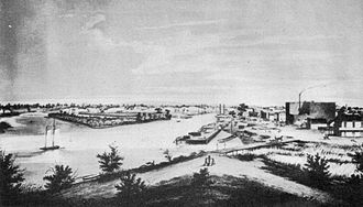 Port of Stockton - Stockton, California circa 1860