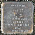 Stumbling block for Berta Kohn (Bobstrasse 2)