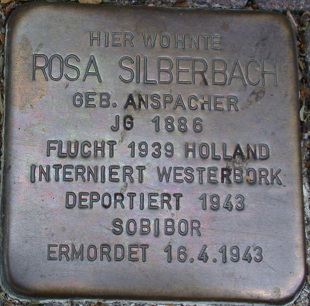 Stolperstein Silberbach, Rosa.JPG