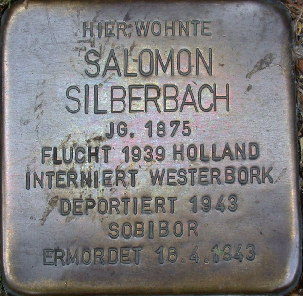 Stolperstein Silberbach, Salomon.JPG